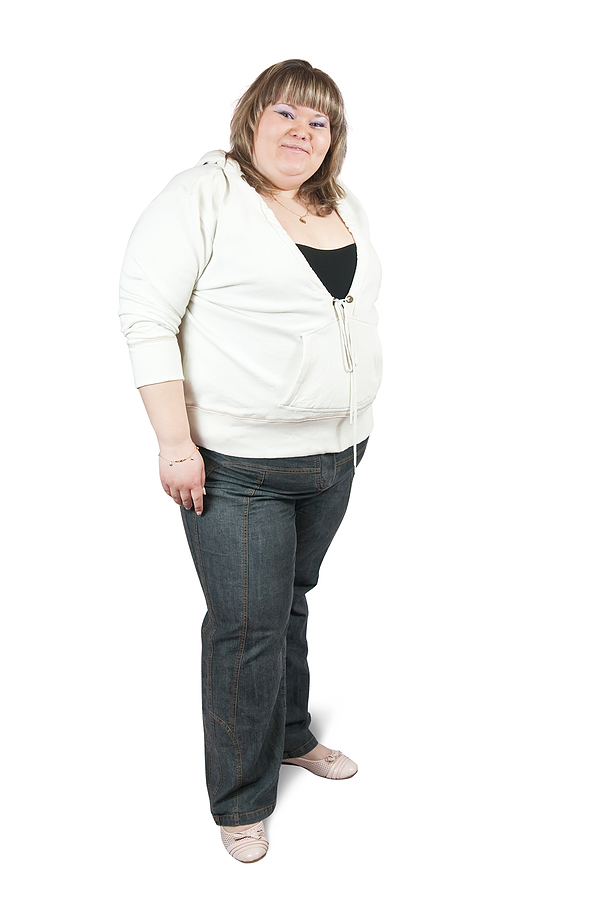 Large woman with belly fat